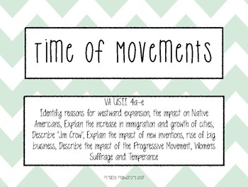 Time of Movements Task Cards