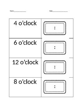 Time on Digital Clock