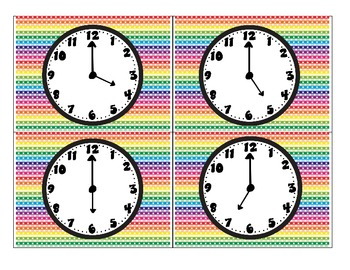 Time on Hour Matching Game