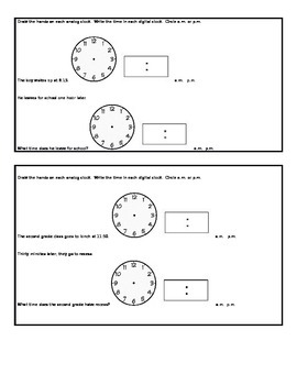 Time on an Analog Clock