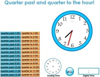 Telling Time 3D Model and Interactive Clock - Digital and Analog
