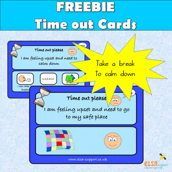 Time out/calming down cards