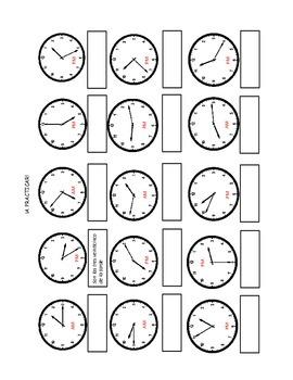 Time practice/Practica para la hora