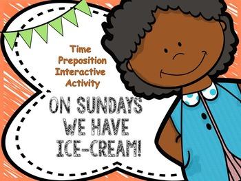 Time preposition interactive activity
