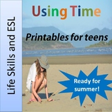 ESY Time printables for life skills and ESL - in time for summer!