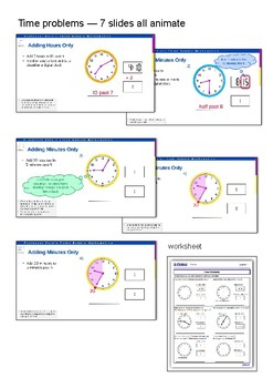 Time problems, am, pm, calendars , 24 hr time PPT