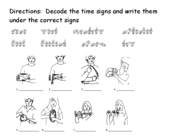 Time signs fingerspelling matching