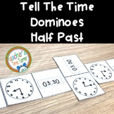 Time - tell the time dominoes - half past