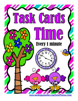 Time to 1 minute - Task Cards