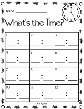 Time to 5 Minutes-Write Around the Room and Matching Cards