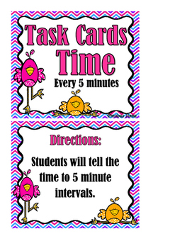 Time to 5 minutes - Task Cards
