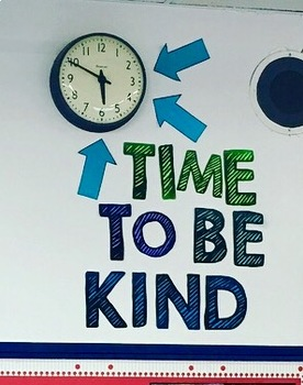 Time to Be Kind Clock Set