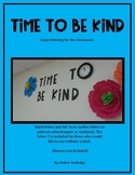 Time to Be Kind (letters)