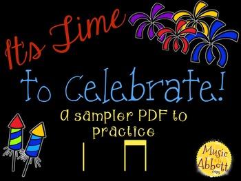 Time to Celebrate!  SAMPLER