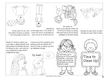 Social Story Mini Book - Time to Clean Up