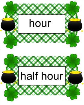 Time to Count the Gold!  Vocabulary Card Sampler Freebie!