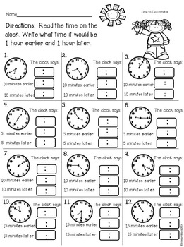 Time to Five Minutes Spring Theme Common Core