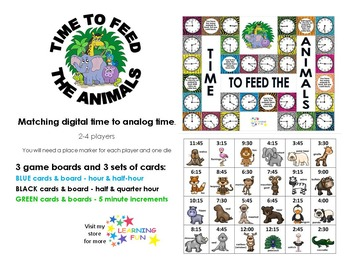 Time to Feed the Animals - analog time