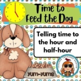 Time to Feed the Dog!  A game for telling time to the hour and half hour