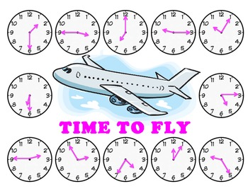 Time to Fly - A Game to Practice Telling Time to the Nearest 5 Minutes