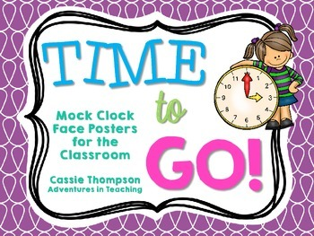 Time to Go! Mock Clock Faces