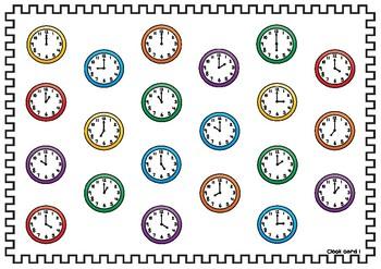 Time to Graph O'clock Math Activity