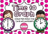 Time to Graph O'clock Math Activity