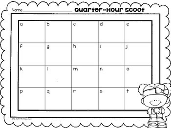 Time to Half Hour & Quarter Hour Math Centers