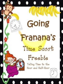 Time to Hour and Half Hour Scoot Freebie