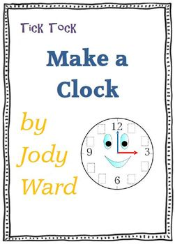 Time - Make a Clock Analogue & Digital Printable Worksheet