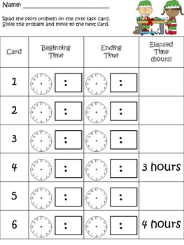 Time to Make the Presents: Elapsed time activity