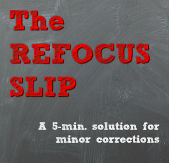 Time to Refocus Slip