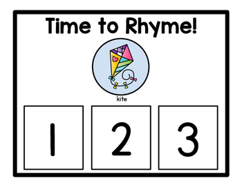 Time to Rhyme Activity Mats