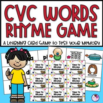 CVC Rhyme Memory Game