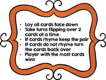 Time to Rhyme with Picture Cards