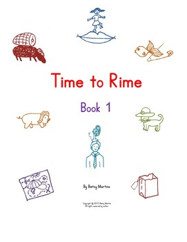 Word Families Word Work: Time to Rime Book 1