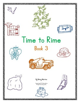 Word Families Word Work: Time to Rime Book 3
