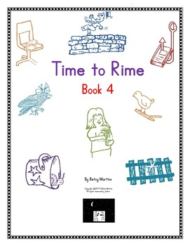 Word Families Word Work: Time to Rime Book 4
