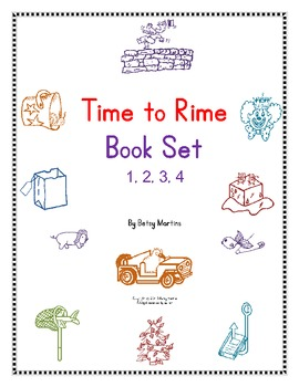 Word Families Word Work: Time to Rime 1 - 4 Book Set