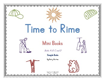 Word Families - Time to Rime Mini Book Samples