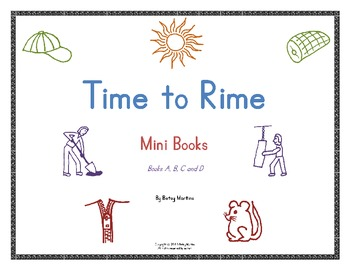 Word Families - Time to Rime Mini Books A-D