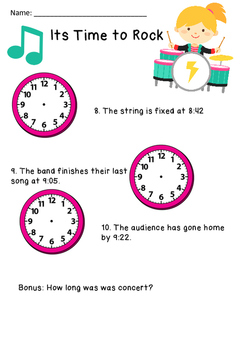 Time to Rock (Telling Time To the Closest Minute)