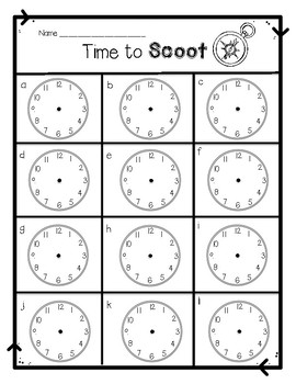 Time to Scoot -- Time to the Nearest 5 Minute