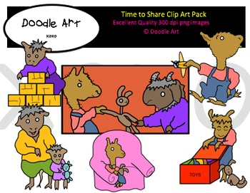 Time to Share Clipart Pack