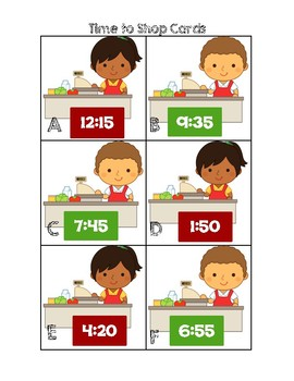 Time to Shop - Telling Time by 5 Minute Intervals