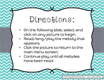 Time to Skate - Melody Reading Practice Game {sol mi la}