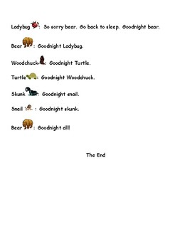 Time to Sleep Readers' Theater script