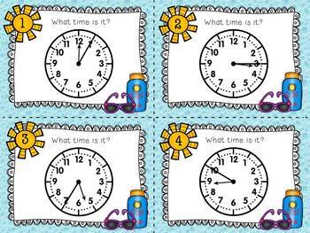 Time to Swim: Telling Time to Five Minutes