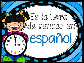 Time to Think in English/Spanish Language Signs FREEBIE