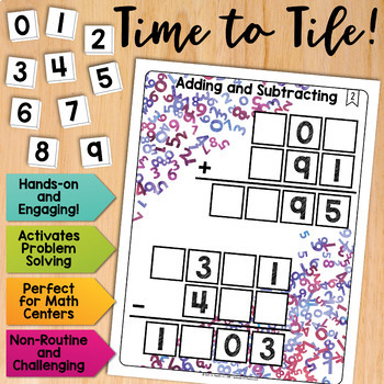 Math Tiles: Adding and Subtracting | Math Centers
